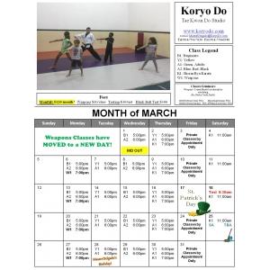 2017-03 March Calendar