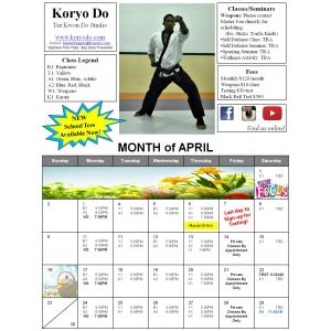 2017-04 April Calendar
